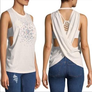 FREE PEOPLE STARS GRAPHIC ACTIVEWEAR TANK TOP